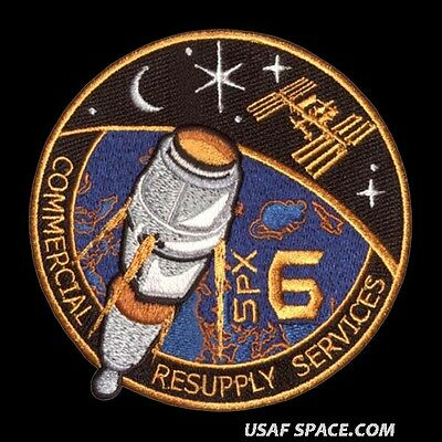 SPACEX SPX-6 - NASA COMMERCIAL ISS RESUPPLY ORIGINAL AB Emblem SPACE PATCH