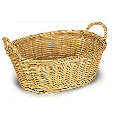 Oval Willow Bowl Style Basket w/Handles 5 count