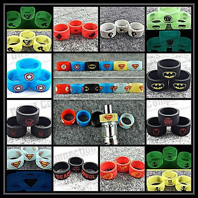 18MM Protective Silicone Band Ring  Cover Superheroes Villains & MORE CHARACTERS