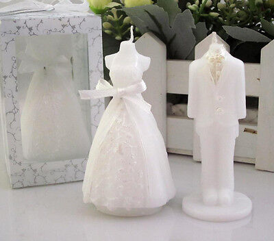 Romantic Bridegroom Bride Shape Scented Candles Wedding Party Boxed Gift 2Pcs