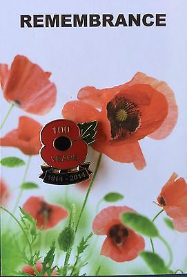 Poppy 100 Year  Remembrance Day Lapel Pin Badge