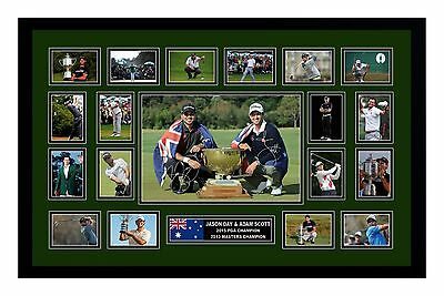 Jason Day & Adam Scott Signed Limited Edition Framed Memorabilia