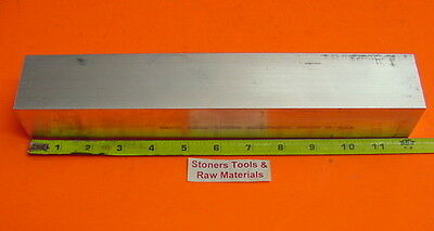 "2"" X 2"" ALUMINUM 6061 SQUARE FLAT BAR 12"" long T6511 Solid 2.00"" Mill Stock New"