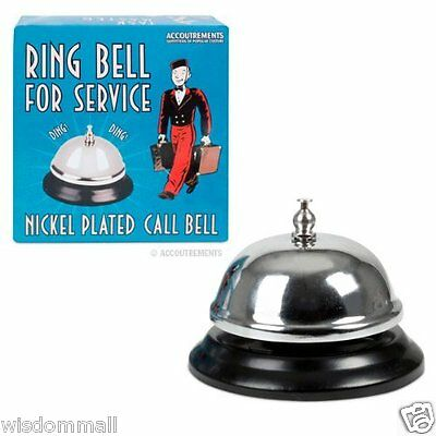 Ring Bell Service Nickel Plated Bride Groom Counter Hotel Signal Bring Push Down