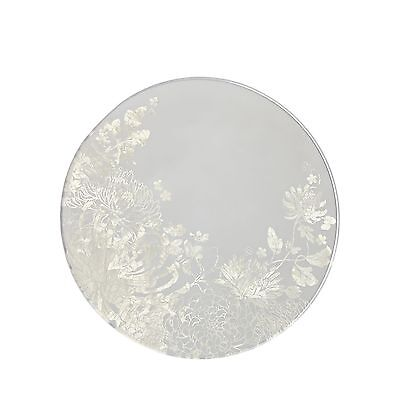 Star By Julien Macdonald Designer Set Of Four Round Floral Glass Coasters