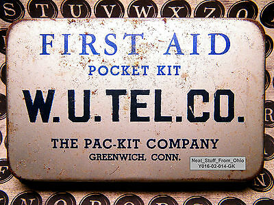 Ẉestern Union Lineman's First Aid Kit, Mfg By:  Pac-Kit Company, Greenwich, Ct