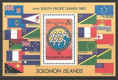 Solomon Islands Sgms444 1981 South Pacific Games Mnh