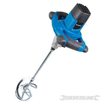 Heavy Duty Silverline 1220W Cement Plaster Mortar Paint Mixer Mixing Paddle 240V
