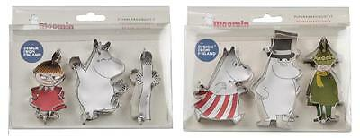 Moomin Tin Cookie Cutters Set of 6 Martinex 2016 *NEW