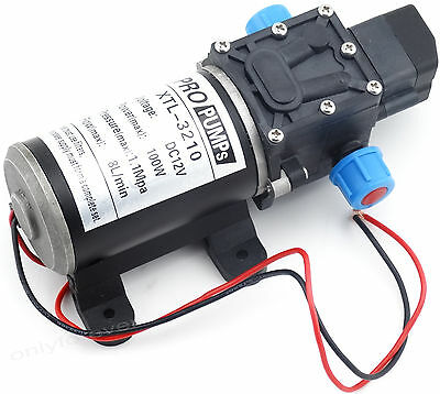 12V 8Lpm 160Psi High Pressure Diaphragm Self Priming Water Pump for Wash 100W