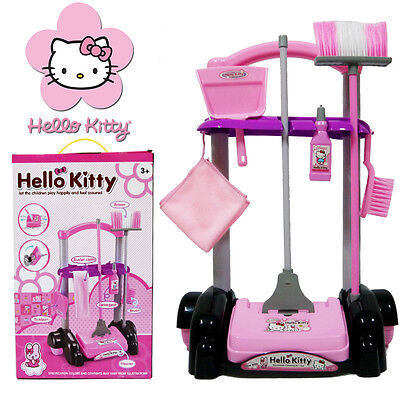 Kids Child Housekeeping Cleaning Tools Trolley Kit Pretend Play Set Cleaner Toy