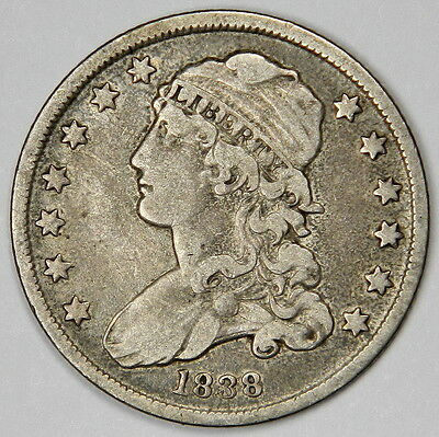 1838 Bust Quarter - Nice Original Vf  Priced For Quick Sale!