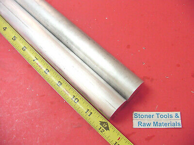 "2 pieces 1-1/4"" ALUMINUM 6061 ROUND ROD 12"" long T6511 1.25"" OD SOLID BAR STOCK"