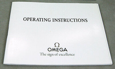 Omega Watch Operating Instructions Manual Booklet 1424,1538 03090160M