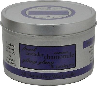 Aroma Paws Tin Candle All Natural Soy French Lavender 8oz