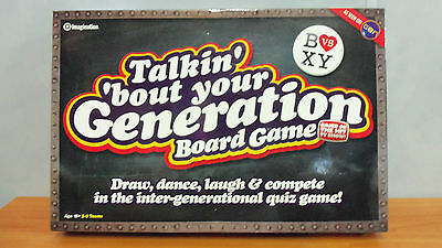 2009 Board Game - Talkin Bout Your Generation - New Never Used