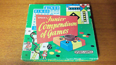 Vintage Board Game - Spears Games - Junior Compendium of Games
