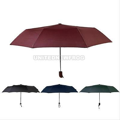 Windproof Auto Automatic Open Close Compact Folding Anti-UV Rain Sun Umbrella
