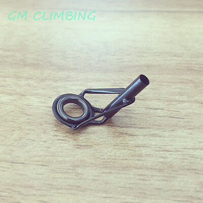 1pc BLACK #6 #8 #10 Sizes Rod Pole Tip Top Guide Rings Fishing Repair Building