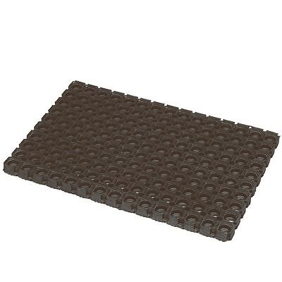 JVL Rondo Recycled Tyre Rubber Mat 50cm x100cm Excellent Dirt Stopping