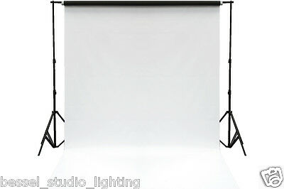 Bessel 2m x 5m Double Sided Black White Photographic Background Vinyl with Stand
