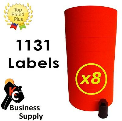 1131 red labels for Monarch 1131 price gun one case = 8 sleeves free shipping