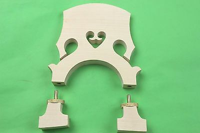 10pcs Top European adjustable double Bass Bridges 3/4 fine maple belgian style