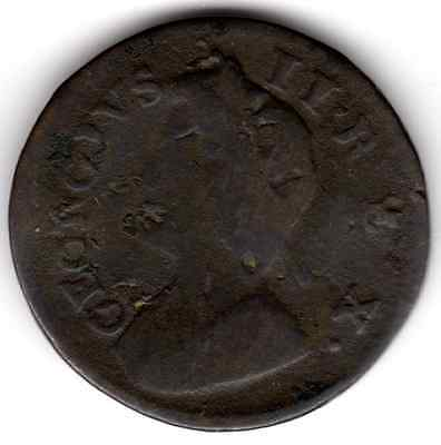 1735 KING GEORGE II FARTHING ¼d - (a)