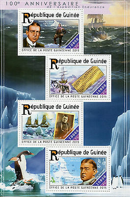 Guinea 2015 MNH Endurance Expedition 100th Anniversary 4v M/S Ernest Shackleton