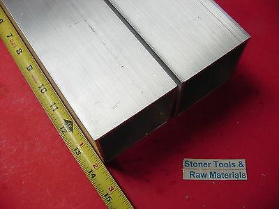 "2 Pieces 3""x 3""x 1/8"" Wall x 14"" Long ALUMINUM SQUARE TUBE 6063 T52 3""SQ x .125"""
