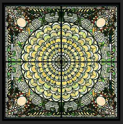 Extraordinary Stained Glass Ceiling