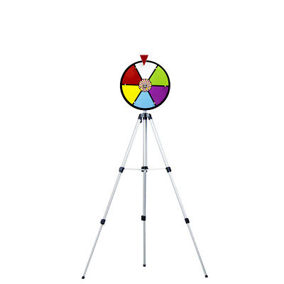 12 Inch Multi Color Dry Erase Laminated Spinning Prize Wheel with Stand New