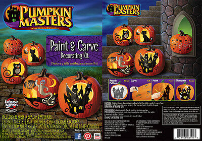 Pumkin Masters-Brand New Paint & Carve Pumpkin Decorating Kit - Carving Fun Kids