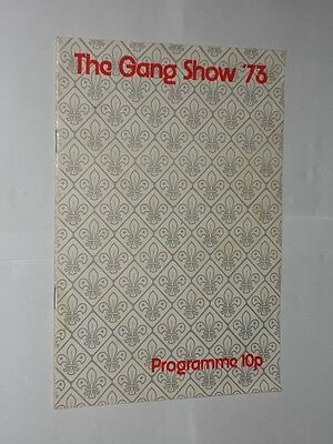 Gaumont State Theatre Kilburn Scout Association Presents The Gang Show 1973.