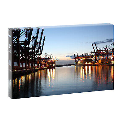 poster leinwandbild hamburg burchardkai daniel heine eur 14 90 picclick de. Black Bedroom Furniture Sets. Home Design Ideas