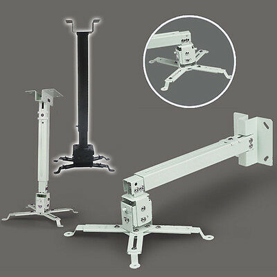 2 Color DLP LCD Overhead Projector Bracket Ceiling Mount Stand Holder Extendable