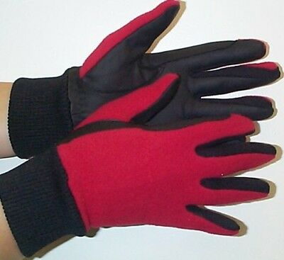 Childrens/Teens Winter Fleece Backed Horse Riding Gloves Small Extra Small New