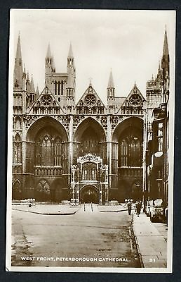 C1950's View of the West Front, Peterborough Cathedral