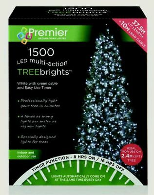 Premier 1500 LED White M Action Treebrights Christmas Tree Xmas Light In Outdoor