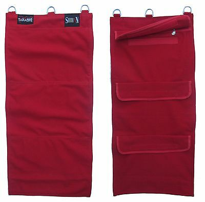 Striking Canvas Sand Wall Bag  'RED' Wing Chun  with Zip Protector - 3 Section