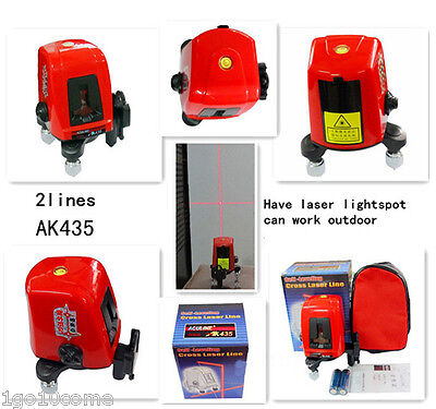 360 Degree Rotary Self Leveling Line Lasers Red 2 Line 1 Point Tools AK435