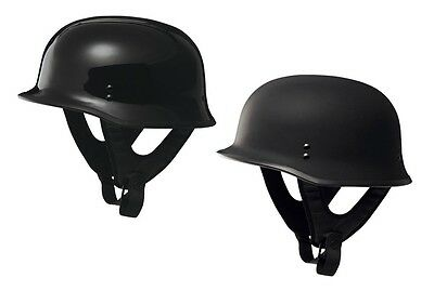 FLY DOT WWII German Style Motorcycle Half Helmet 9mm Solid Color ALL SIZES
