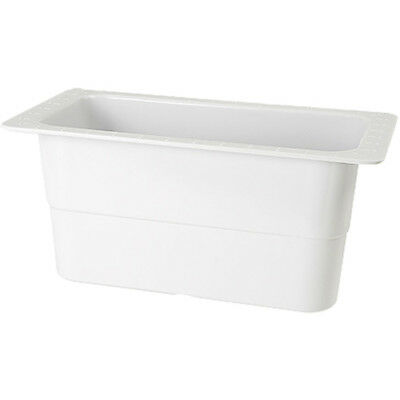 "G. E. T. Food Pan 1/3 Size Insert Pan, 12 3/4"" x 7"" x 6"" Deep Color White"