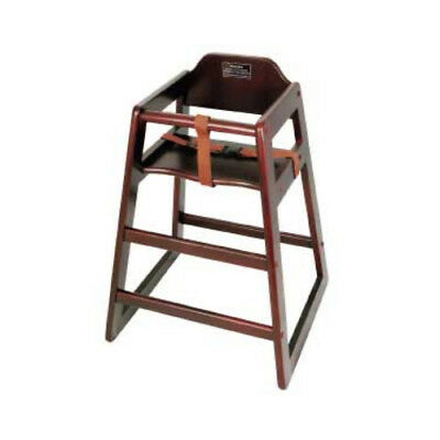 Winware by Winco Assembled Mahogany High Chair - Pack of 3