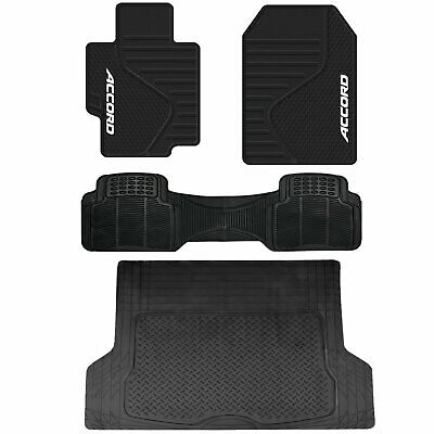 Honda Accord Front Rubber Mats Black All Weather Runner L Cargo Trunk Universal