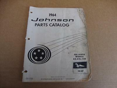 1964 Johnson Sea Horse 28 HP outboard parts catalog 380048 RX-RXL-12M