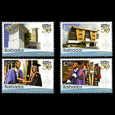 Barbados 2014 - 50th Anniv the Cave Hill University Architecture - Sc 1212/3 MNH