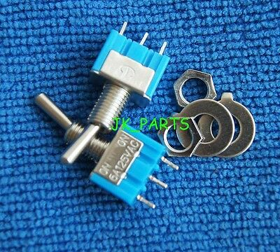5pcs NEW Mini MTS-103 3-Pin SPDT ON-OFF-ON 6A 125VAC Toggle Switches