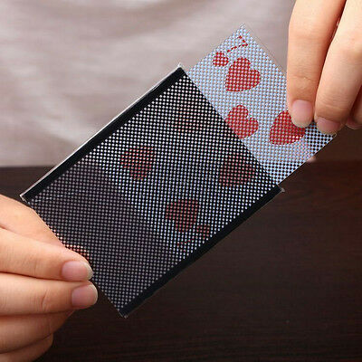 For Party Magic Prop Vanish Illusion Close-Up Plastic Card Change Sleeve Trick C