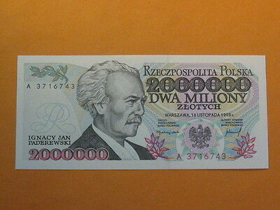 Poland Banknote 2000000 zlotych A !!! 1993 UNC ! P-163